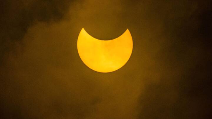 Se billederne: I dag dækkede Månen en fjerdedel af Solen