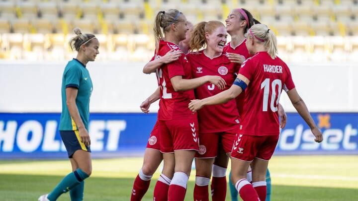 MINUT FOR MINUT Pernille Harder og det danske landshold slår Australien 3-2