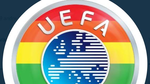 Uefa skifter til regnbuefarvet logo og afviser kritik i sag om oplyst stadion