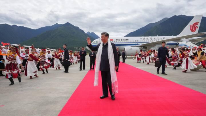 Kinesisk præsident besøger Tibet for første gang i 30 år
