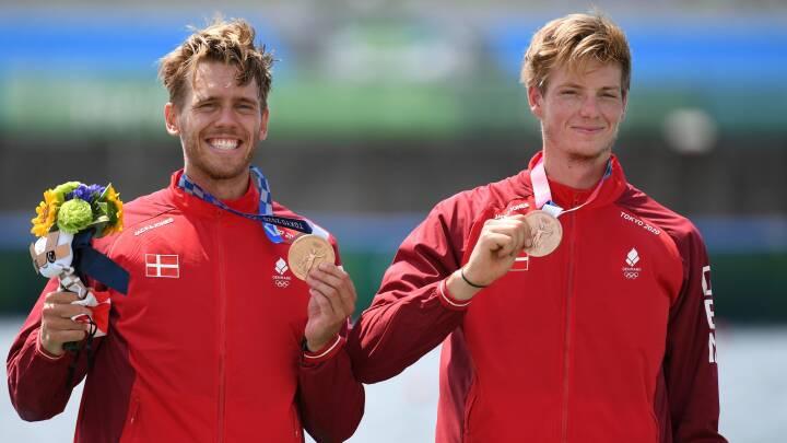 Dansk bronze-duo overraskede alt og alle – og så alligevel: 'Jeg har trænet mod dem, og de ror stærkt'
