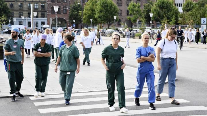 Sygeplejersker i ulovlig strejke: 'Bare prøv at fyre os — så vil sundhedsvæsnet jo kollapse'