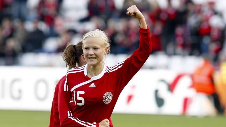 Pernille Harder slår rekorden for flest landskampsmål