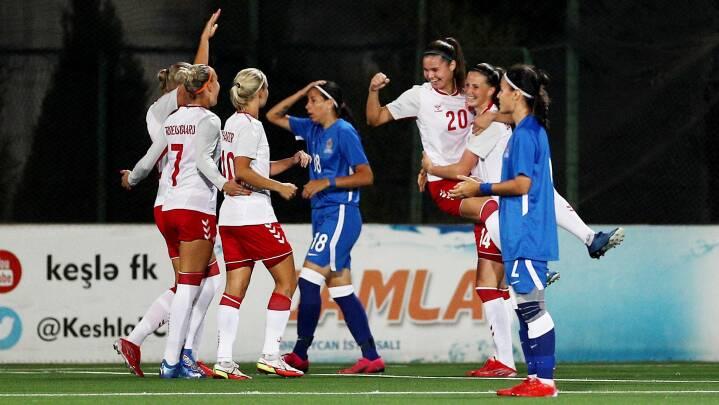 Ny storsejr til de danske fodboldkvinder i VM-kvalifikationen