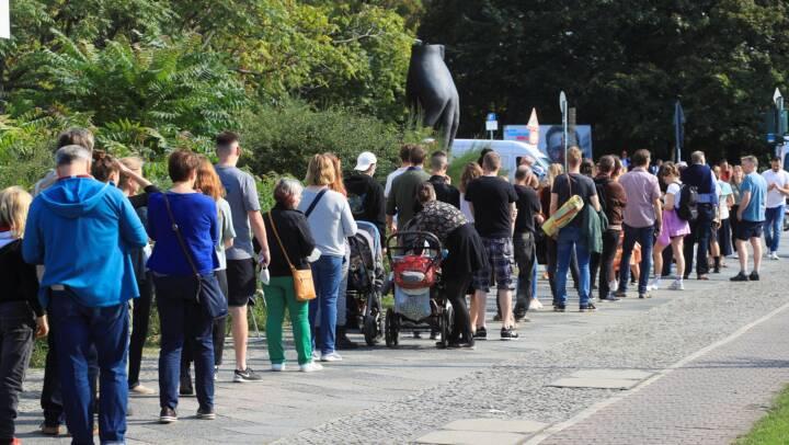 Stor lyst til at stemme: Lange køer i Berlin
