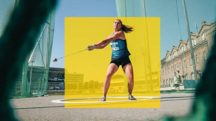 Katrine var først gymnast og hækkeløber: Nu rammer hun hovedet på sømmet i hammerkast