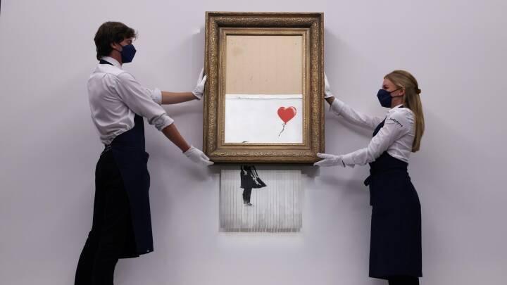 Banksy-værk slår rekord: Solgt for 160 millioner kroner