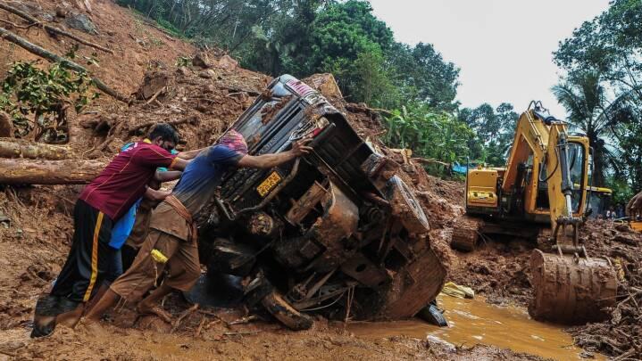 Regnskyl og jordskred afskærer indisk delstat fra omverdenen