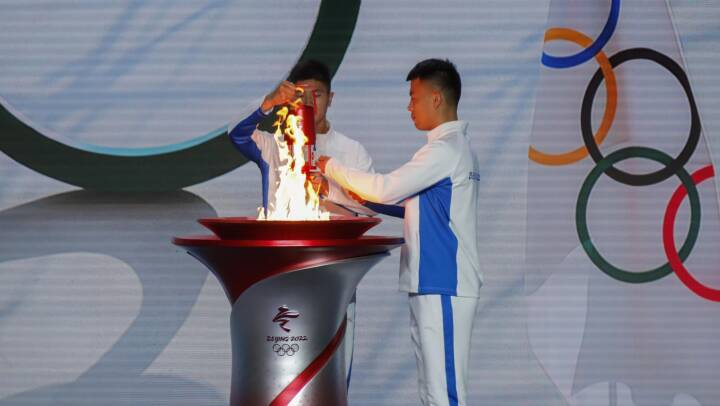 Den olympiske ild er ankommet til Beijing