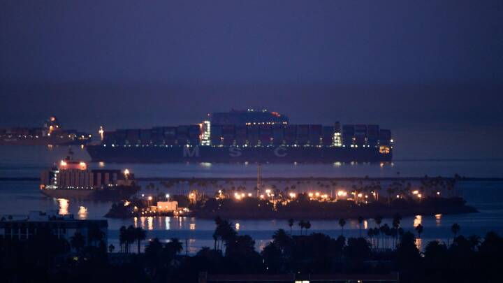 200.000 containere strandet ved Los Angeles: Forsyningskæderne er pressede