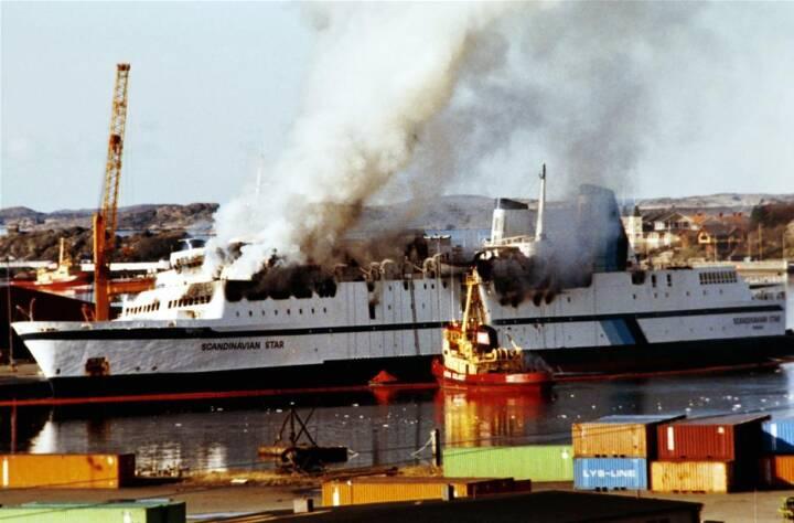 ARKIVBILLEDER Færgebranden der kostede 159 mennesker livet