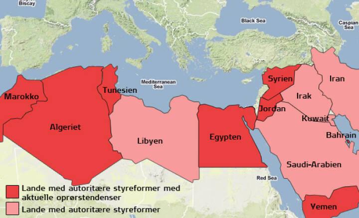 Overblik Oproret I De Arabiske Lande Ligetil Dr
