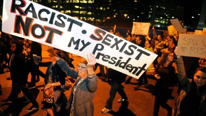 Donald Trump kritiserer demonstranter