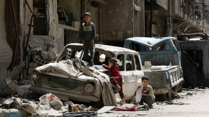 Kemiske våbeninspektører er nu kommet til Douma