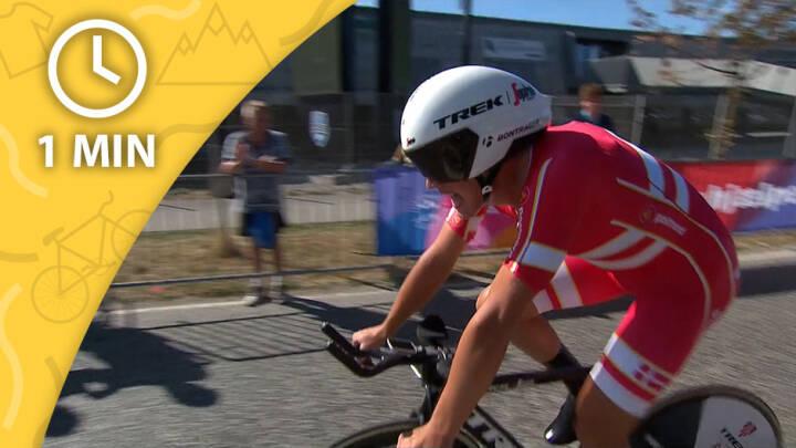 SE ETAPEN PÅ 1 MIN Flyvende Mads Pedersen vinder enkeltstart - Van Aert tæt på samlet sejr