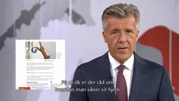 I orden at TV-Avis-vært henviste til dr.dk for råd mod indbrud
