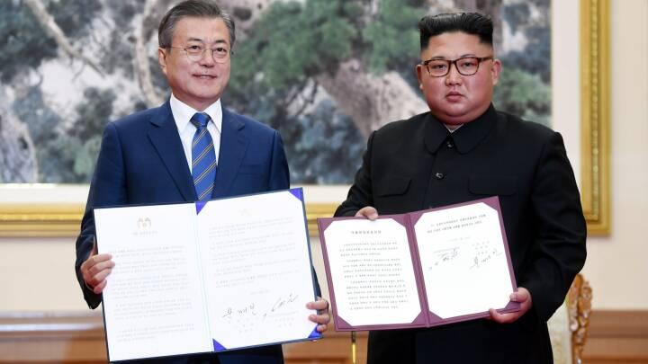 Nord- og Sydkorea underskriver aftale: Vil lukke atomanlæg og afholde OL sammen