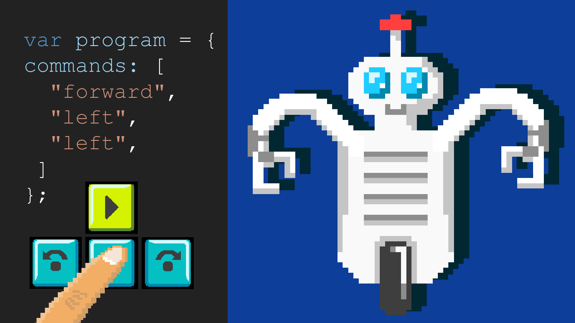 SPIL Styr robotten Roberta og lær hvordan du koder