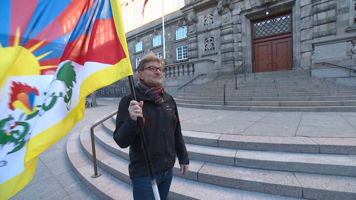 Tibet-flag holdt kinesere fanget på Christiansborg kort før jul