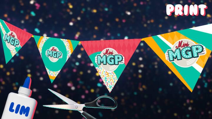Print og lav Mini MGP-flag