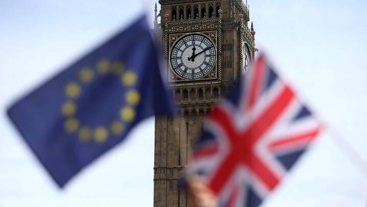 Briterne skal fejre brexit med flag, mønter og lysshow - men Big Ben forbliver tavs