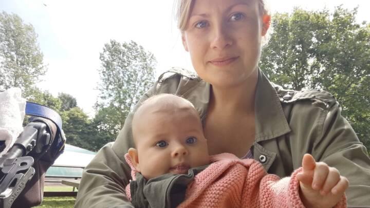 Kristina gik i selvisolation, mens hun var gravid: Nybagte mødre har meget lave smittetal