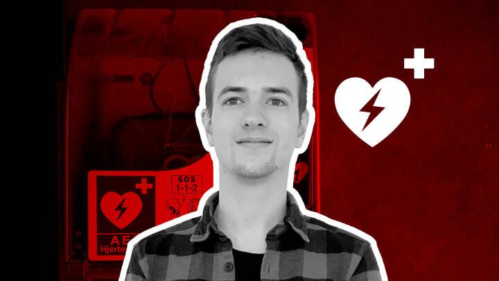 Jacob rykkede ud med hjertestarteren: 'Jeg stod foran spejlet, da alarmen gik'
