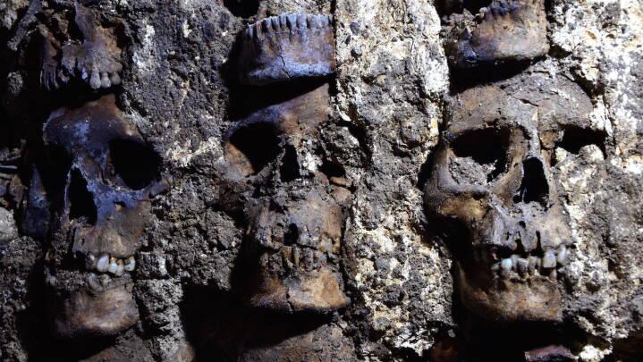 Tårn af kranier dukker op ved berømt katedral: Mænd, kvinder og børn blev ofret til guderne