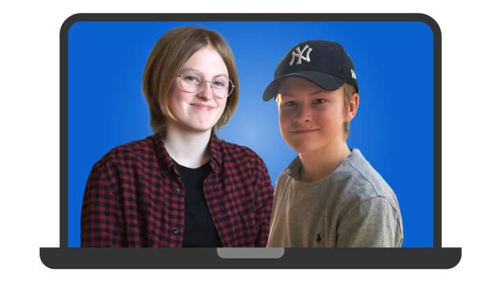 Ordblinde Karoline og Laurits kæmper med onlineundervisningen: Jeg skal skrive 'hjælp' i chatten, men kan ikke stave til det