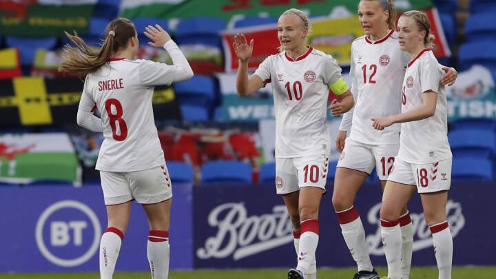 Harder tangerer målrekord i dansk remis mod Wales: Se målene her