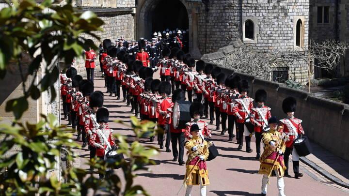 Se billederne: Et sidste farvel til den britiske prins Philip