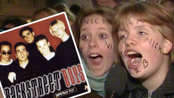 Legendarisk Backstreet Boys-album fylder 25 i dag: Se danske teenagefans gå helt i selvsving
