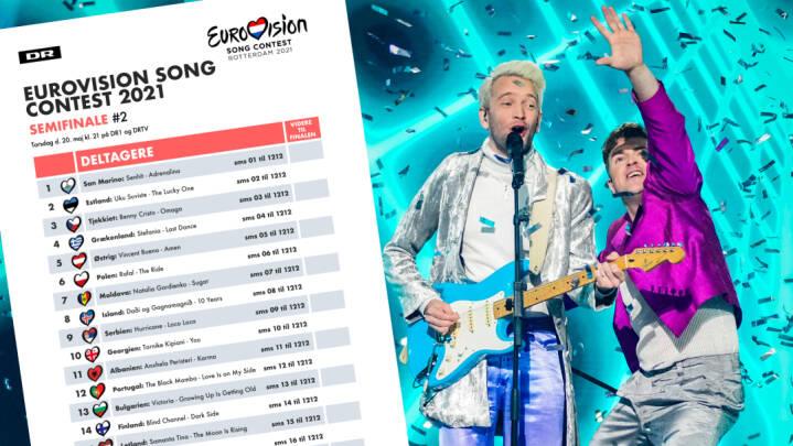 DOWNLOAD Hent dine stemmesedler til Eurovision-semifinalerne