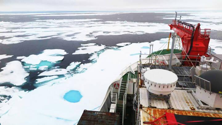 Det burde være det sidste sted, isen forsvandt på Arktis. Men så blæste isen væk