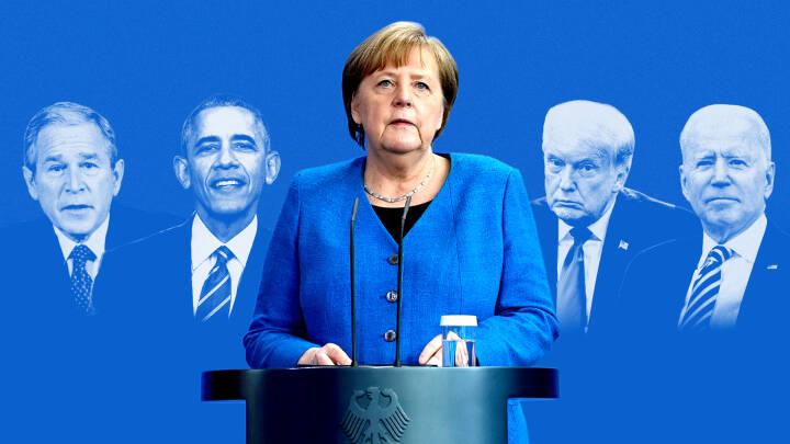 Rygmassage, ikke-håndtryk og aflytning: Merkels 5 største op- og nedture med USA