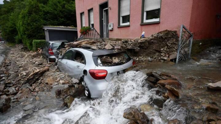 Oversvømmelser i Europa: Dødstal stiger i Tyskland og Belgien - mange er fortsat savnet