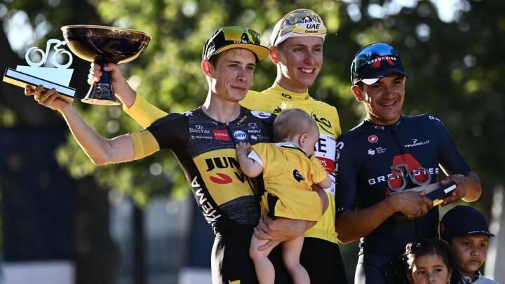 Fra hjælperytter til podieplads: Se Vingegaards vilde Tour de France i billeder