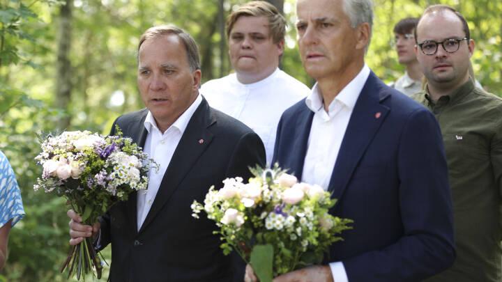 Sveriges statsminister mindes ofre på Utøya