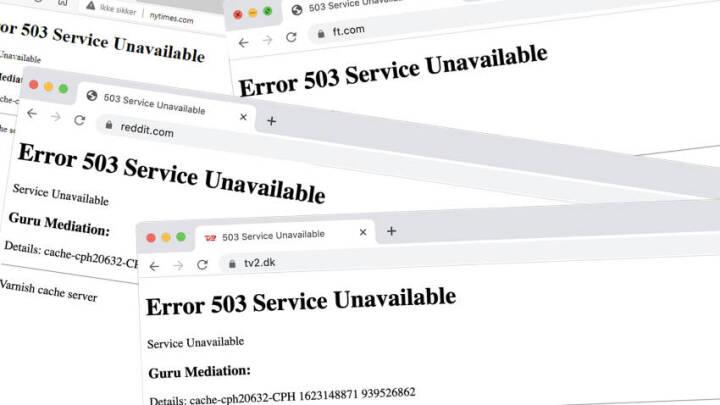 Endnu et nedbrud har ramt: Store virksomheders hjemmesider og apps lagt ned - igen