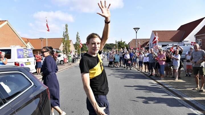 Glyngøre var klar til at hylde den hjemvendte Tour de France-helt