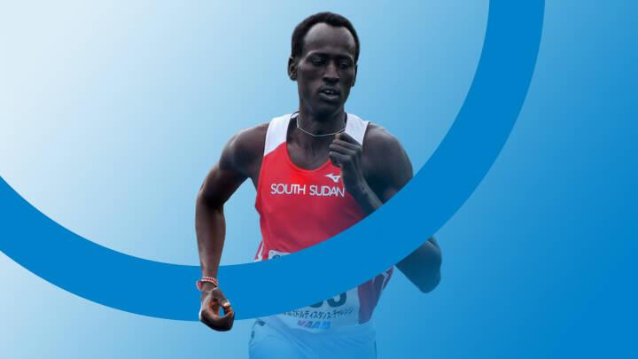 Abraham spiste én gang om dagen og frygtede at blive skudt på løbeturen, men nu er han til OL