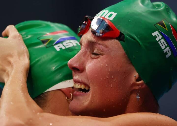 Sydafrikansk svømmer slår dansk verdensrekord og napper OL-guld