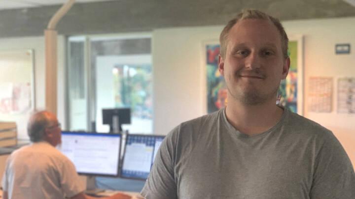 Slut med hjemmearbejde: Efter halvandet år møder Mikkel endelig sine 'nye' kolleger