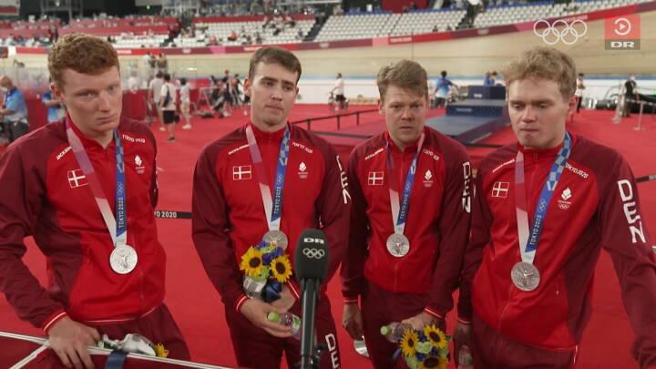 Banelandsholdet slemt skuffede efter OL-sølv: 'Jeg troede, vi havde vundet'