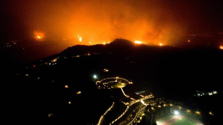 Brande hærger områder nær OL's fødested, Olympia