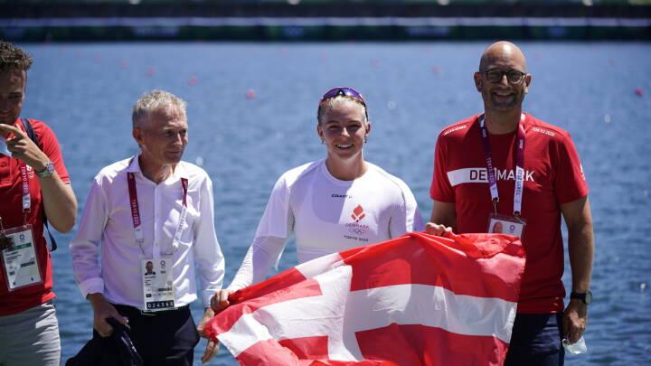 Enestående Emma Aastrand Jørgensen vinder sin anden OL-medalje: Se danskerens vilde slutspurt her