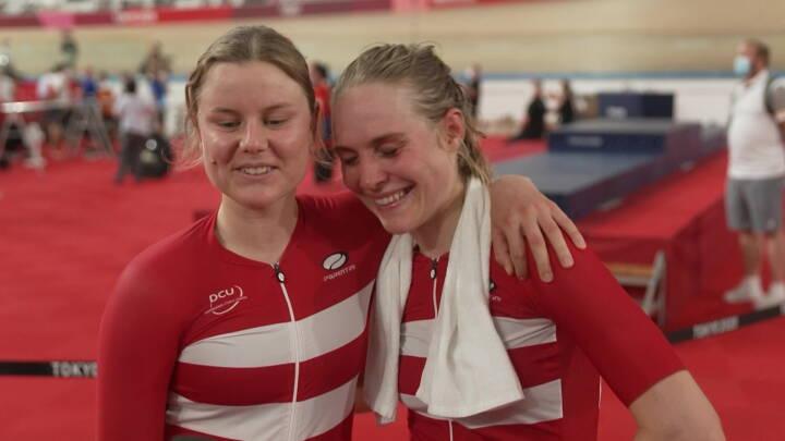 Dansk baneduo vandt sølv i pointløb med masser af styrt: 'Det var albuerne ud og så frem i bussen'