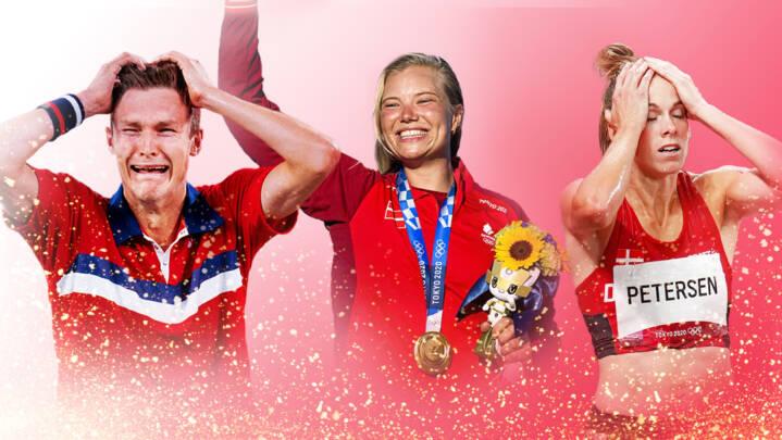Guldgråd, chokstyrt og triste tårer: Genoplev de største danske OL-øjeblikke, der gav kuldegys og gåsehud