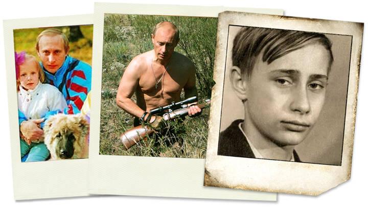 Halvnøgen machomand og familiefar i joggingtøj: 10 fascinerende fotos - og hvad de fortæller om Vladimir Putin