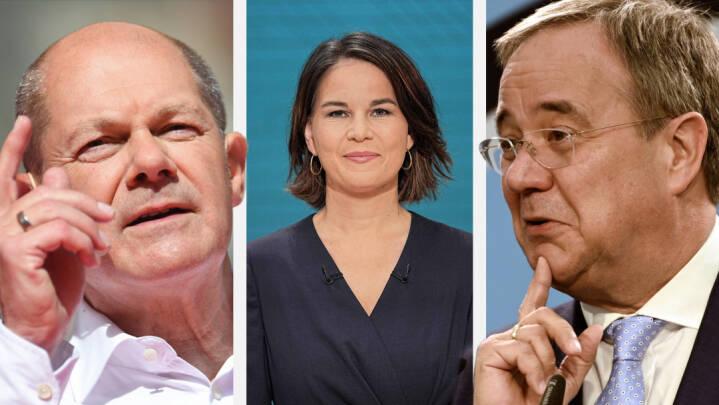 En af de to herrer bliver Tysklands nye kansler - og kvinden i midten kommer nok til at bestemme hvem